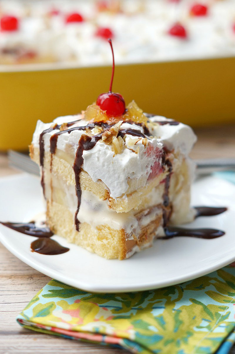 Banana-Split Ice Cream Cake