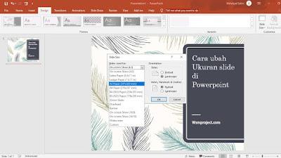 Cara ubah ukuran slide di Powerpoint