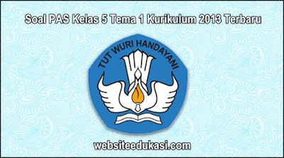 Soal PAS Kelas 5 Tema 1 Kurikulum 2013 Tahun 2019/2020