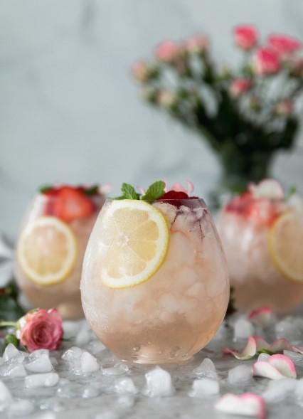 Rosé Lemonade Elderflower Sangria