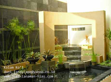 Taman Kolam | Tebing Hias Minimalis Untuk Rumah Minimalis Anda