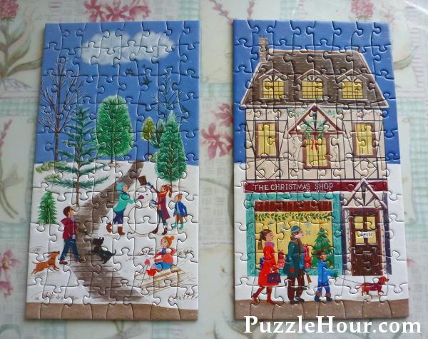 Pimlada Phuapradit artist gibsons advent calendar completed jigsaw puzzles festive Christmas scenes winter snow