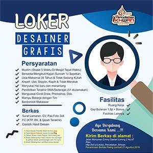 Lowongan Kerja Desainer Grafis di Percetakan Ikhwan Makassar