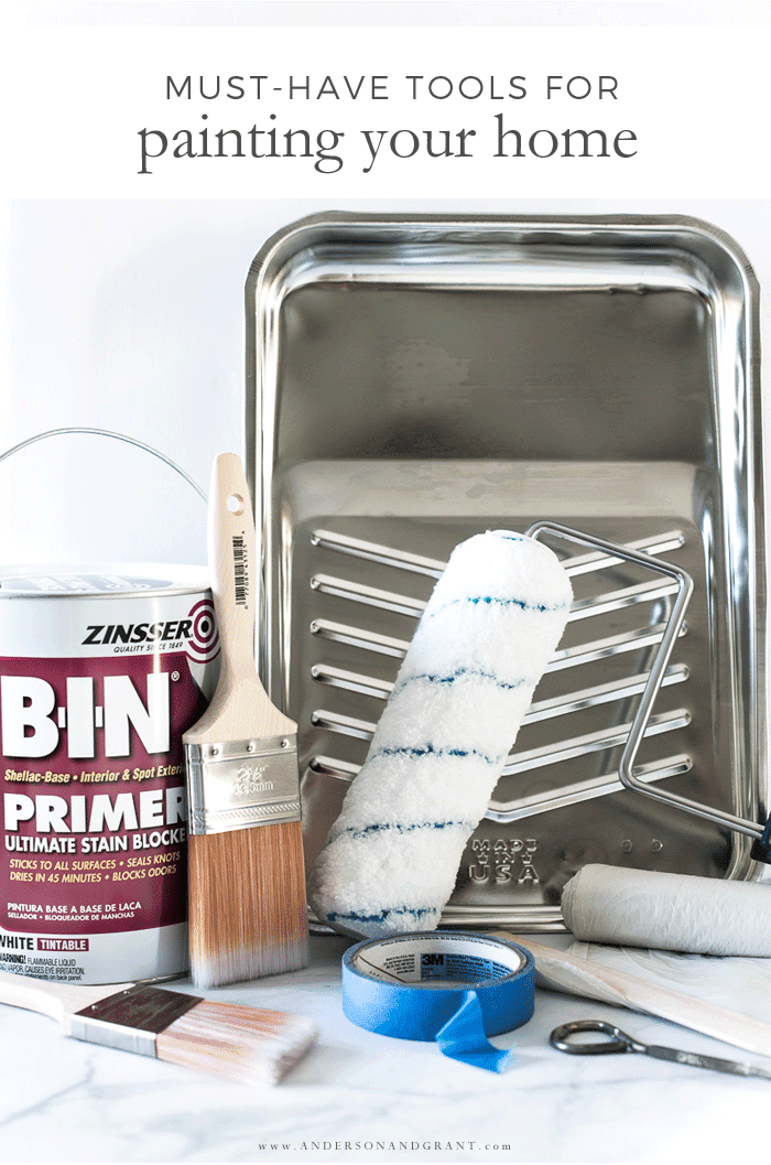 Tools you need for painting your walls