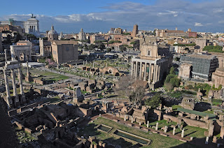 A general view of the site of the Roman Forum