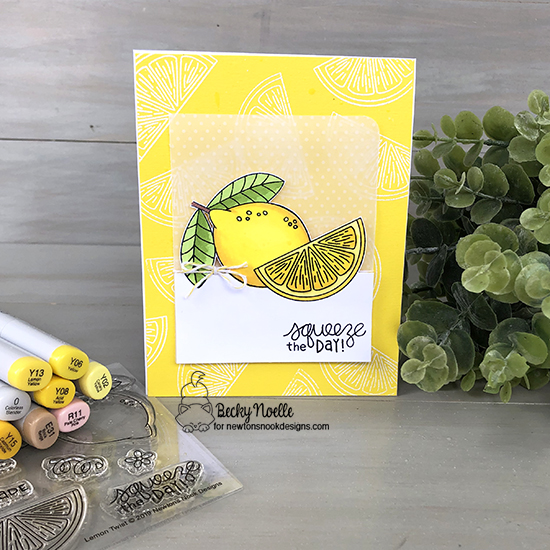 Squeeze the day by Becky features Lemon Twist by Newton's Nook Designs; #newtonsnook