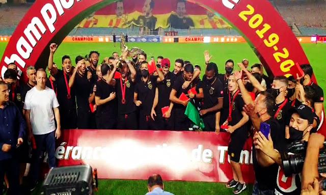 الترجي الرياضي التونسي يتسلّم رمز البطولة رقم الـ 30 (صور)