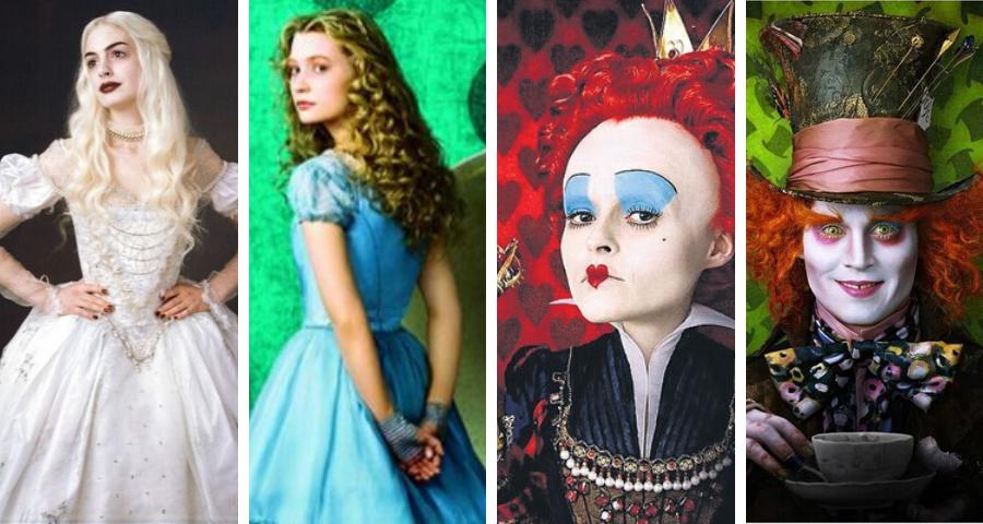 Chapeleiro Louco, Alice, Rainha Branca e Vermelha