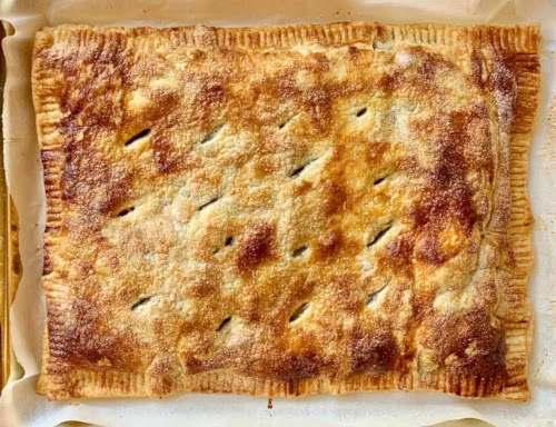 aprende ingles postre slab pie tarta cuadrada