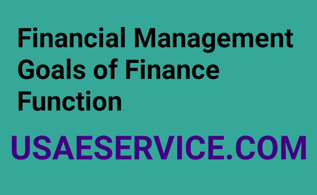 Financial Management Goals of Finance Function Study