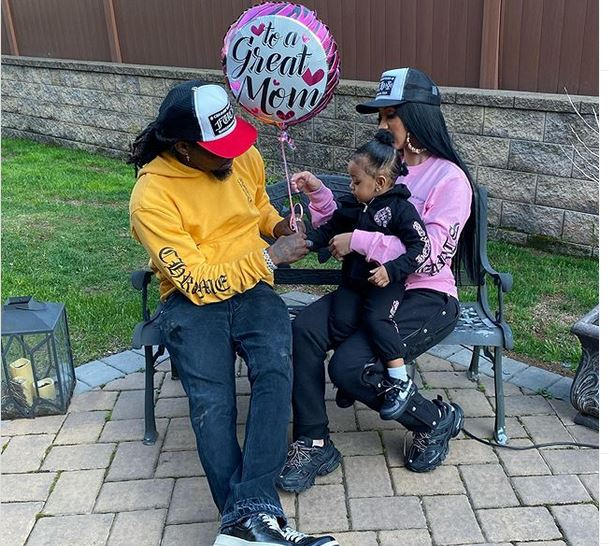 Popular rapper, Cardi B received an 'expensive gift for mother's day' celebration from her man, Offset.
