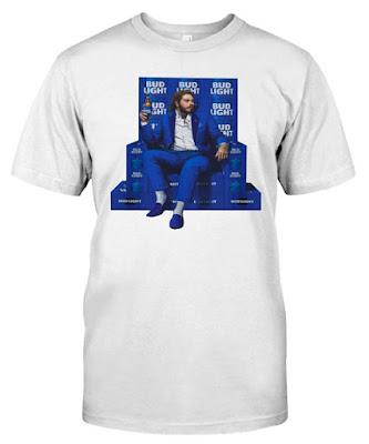 Post Malone Bud Light T Shirts Hoodie Sweatshirt
