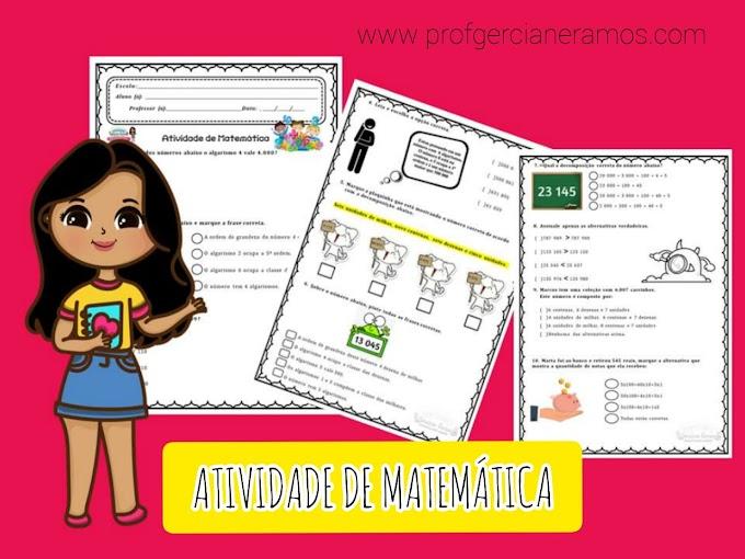 ATIVIDADE MATEMÁTICA - DIAGNÓSTICO OU REVISÃO