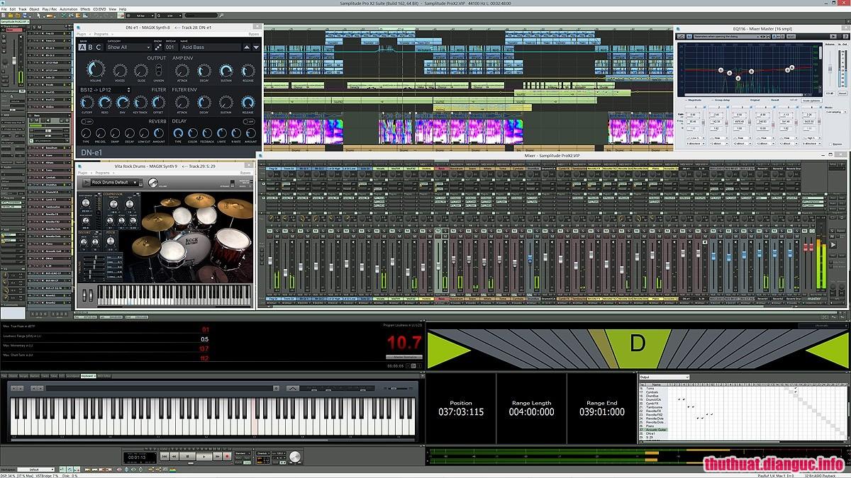 Download MAGIX Samplitude Pro X3 Suite 14.4.0.518 Full Cr@ck – Phần mềm thu âm chuyên nghiệp