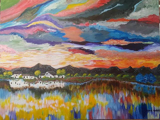 danie van wyk acrylic painting art