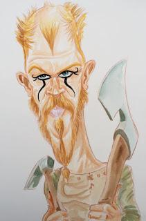 Floki - Série Vikings Croquis Aquarelle ©Guillaume Néel