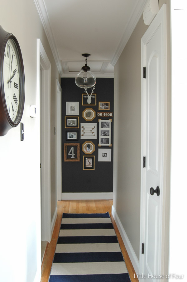 High contrast eclectic gallery wall