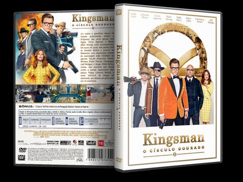 Capa DVD Kingsman O Círculo Dourado [Exclusiva]