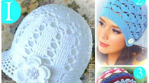 Patrones de Gorros Crochet