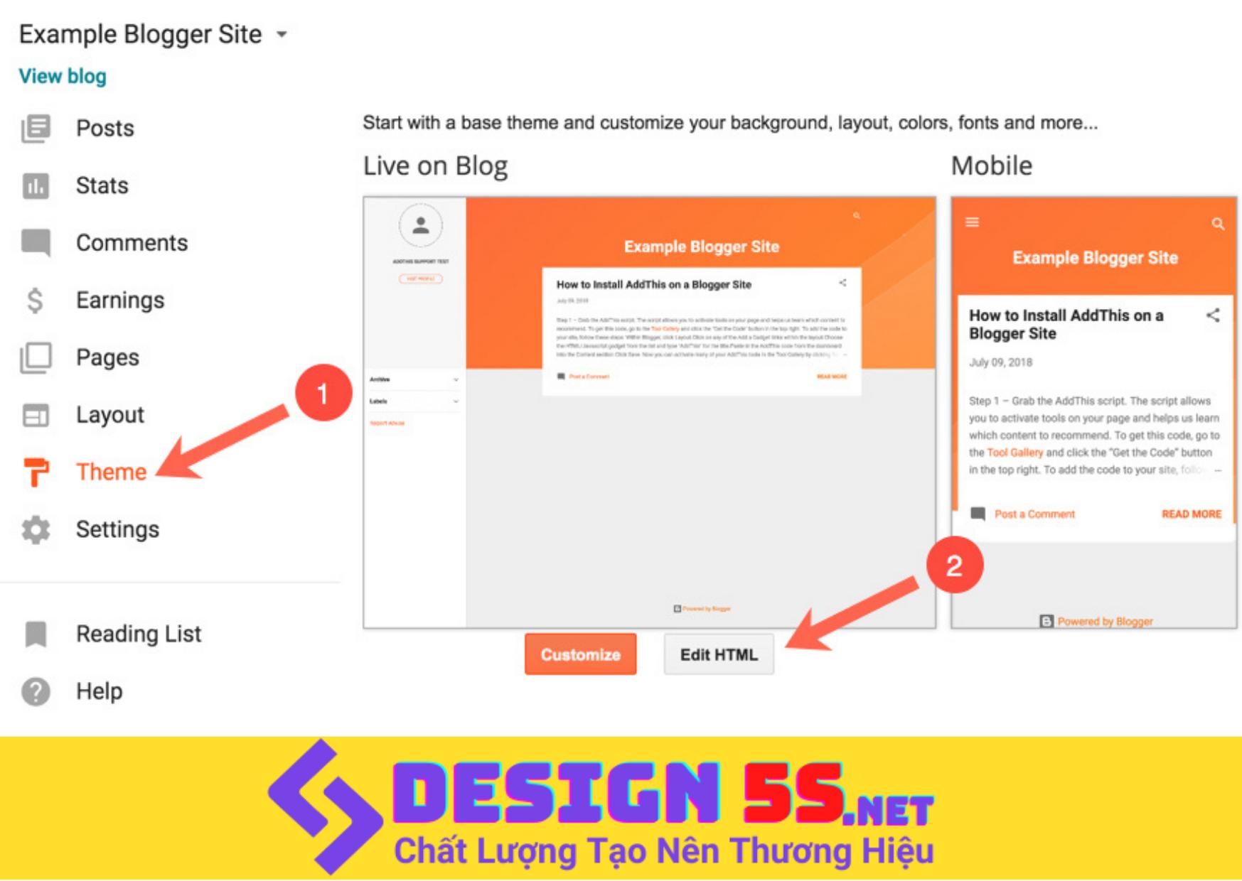 Hướng Dẫn Cài Đặt Theme Blogspot Toàn Tập - Ảnh 2
