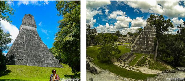 Pirâmides maias em Tikal, Guatemala