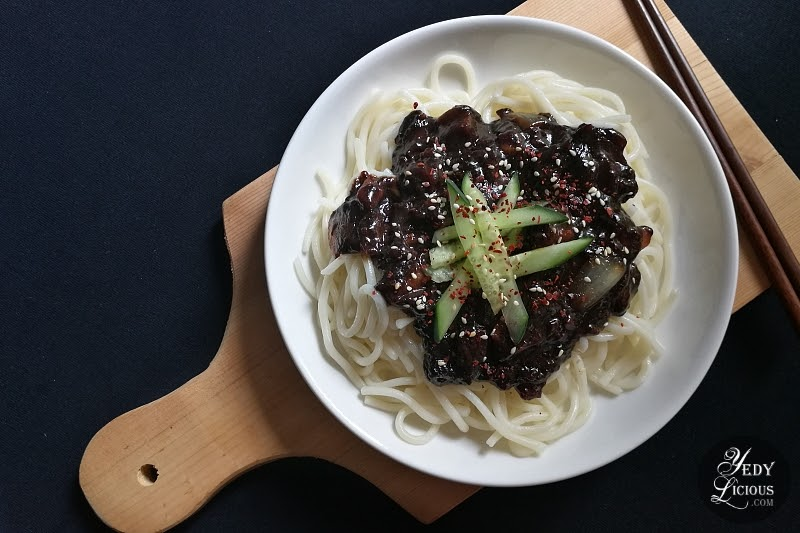 짜장면 Korean Jjajangmyeon Recipe + Video on YedyLicious Manila Food Blog YouTube Channel YedyLicious TV, How To Cook Jjajangmyeon, How To Cook Korean Black Bean Noodles, Jjajangmyeon in Manila Philippines, Jjajangmyeon Near me, Jjajangmyeon Recipe Ingredients, Best Korean Jjajangmyeon in Manila Philippines, YedyLicious Manila Food Blog, Yedy Calaguas Food Stylist and Food Photographer Writer