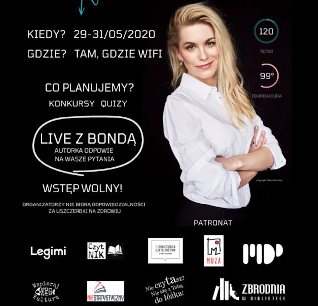 Zlot fanów Katarzyny Bondy on-line pod patronatem Promotorki czytelnictwa