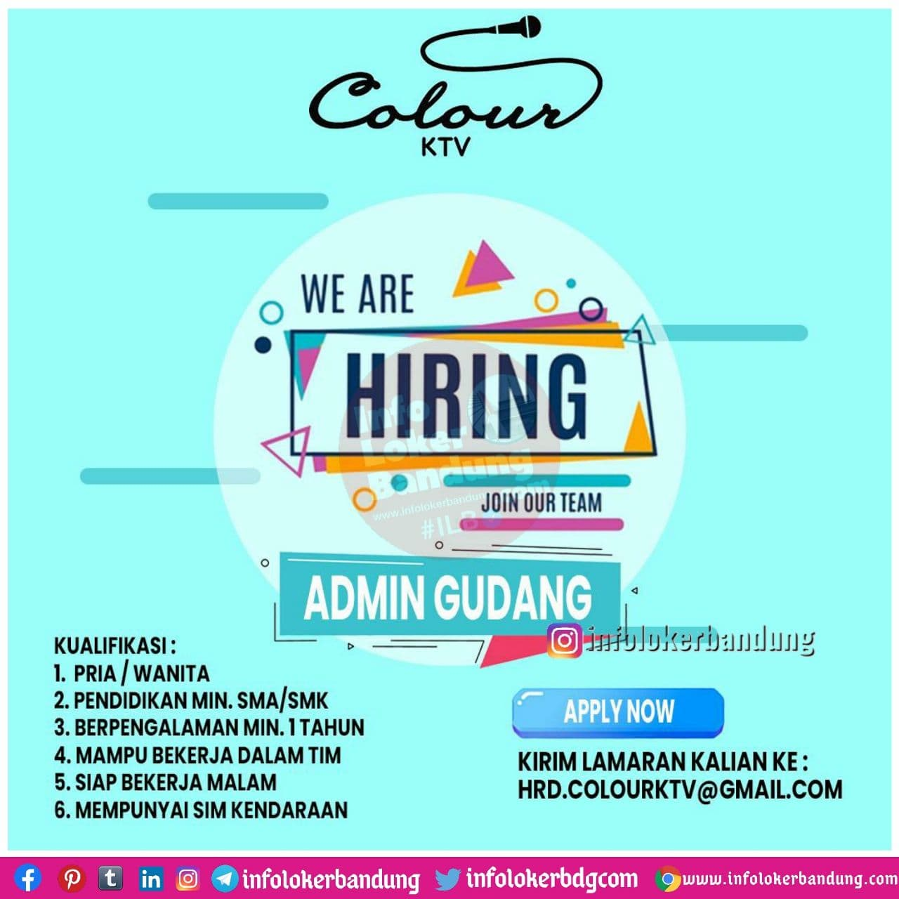 Lowongan Kerja Colour KTV Bandung Desember 2020