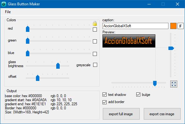 Glass Button Maker 1.0.0.4 | Generador de botones para web o aplicaciones | Portable
