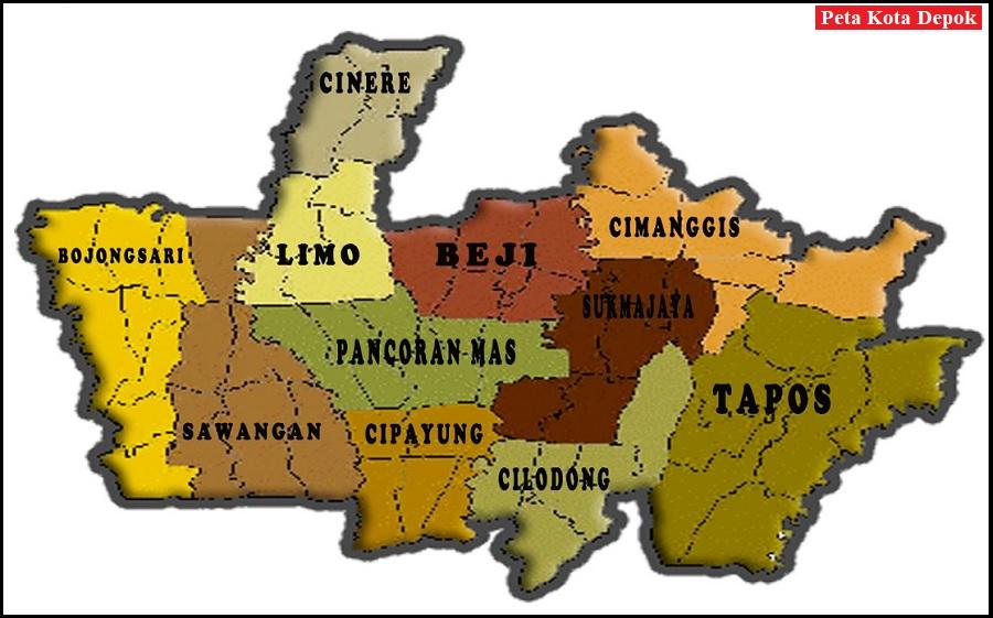 Peta Kota Depok