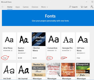 windows fonts download
