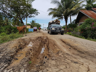 Jalan Penghubung Tanah Pasir dan Lapang Rusak Parah, Warga Minta Segera Diperbaiki