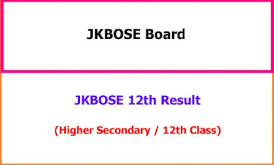 JKBOSE 12th Class Exam Result