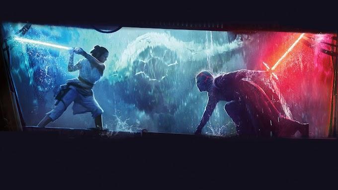 Papel de Parede Star Wars Rey vs Kylo Ren