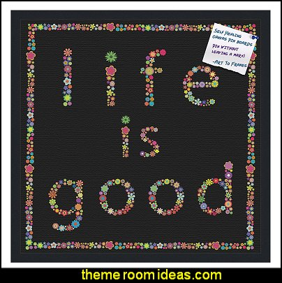 decorative pin cork bulletin board  Groovy Funky Retro Bedroom Pictures - 60s style theme decorating -  70s theme decorating - Funky Flower Power Bedrooms - 70's Theme Decor - 70s theme bedroom decorating - Psychedelic  Tie Dye Hippie Hippy style flower power era