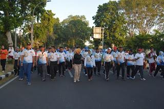 Stake Holder NTB Ikut Jalan Sehat dan Sepeda Santai HUT Bhayangkara ke 73
