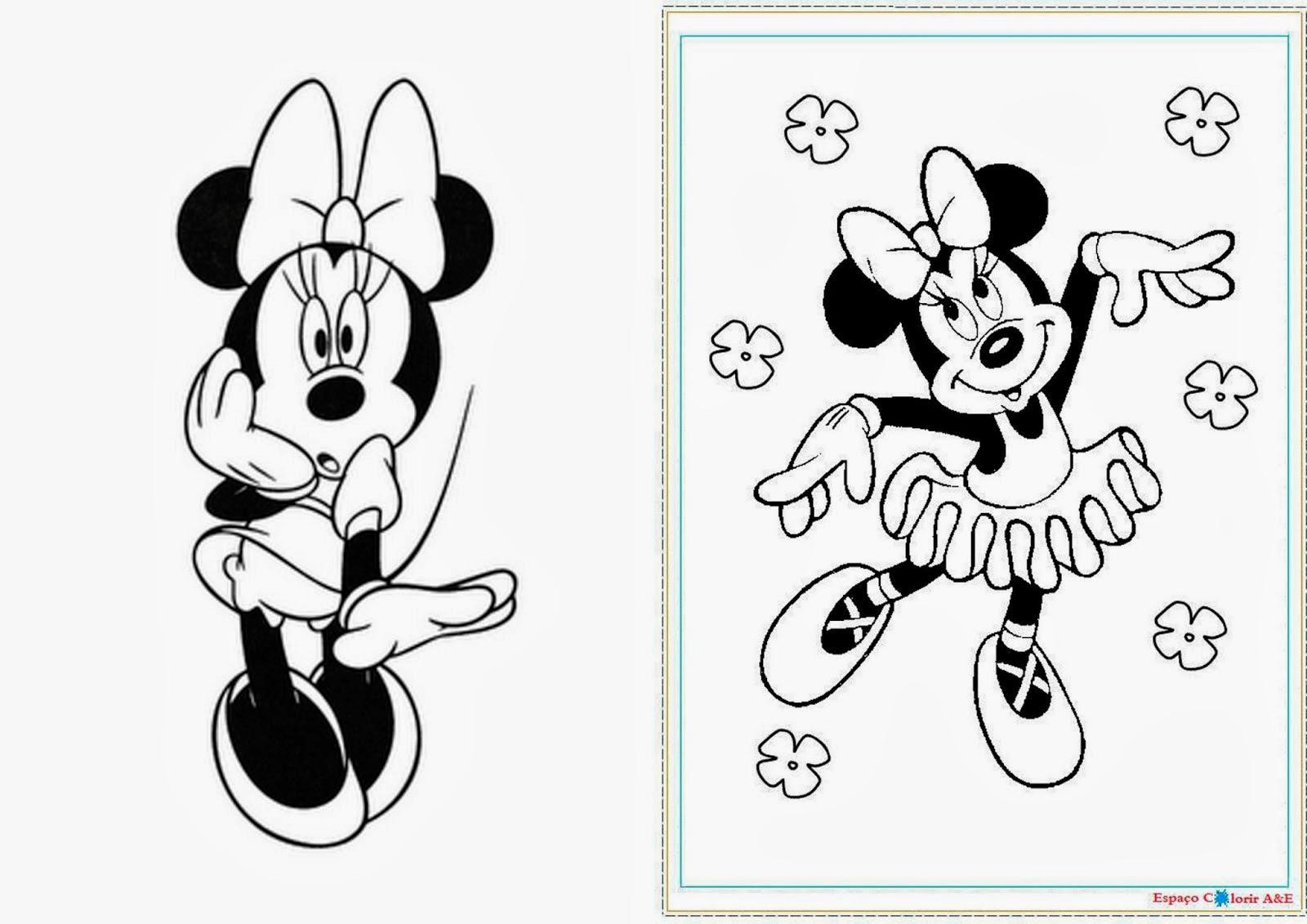 Minnie: Libro para Colorear para Imprimir Gratis. | Ideas y material ...