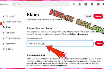 Cara Claim Website di Pinterest - Verifikasi Domain