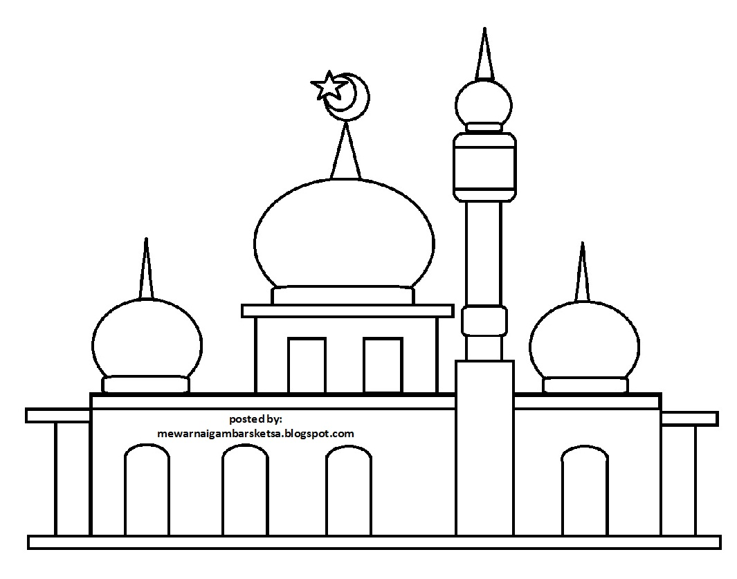Masjid Of Coloring Sketch Templates