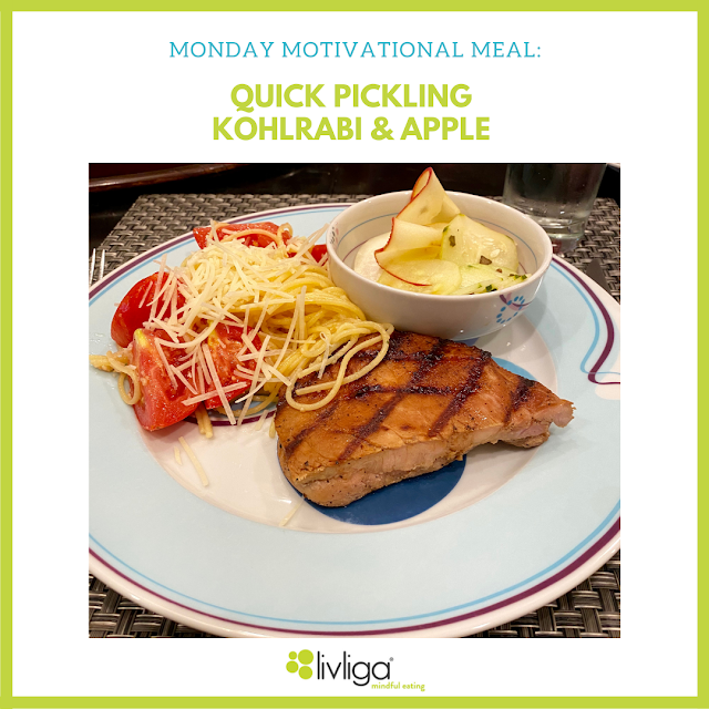 Monday Motivational Meal - Quick Pickling Kohlrabi and Apple
