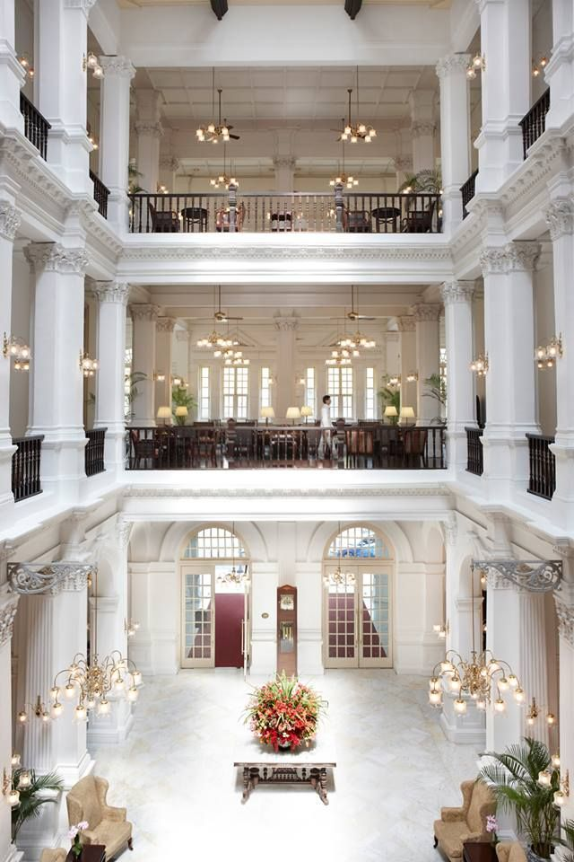 The lobby of Raffles Hotel, Singapore - Vogue Living