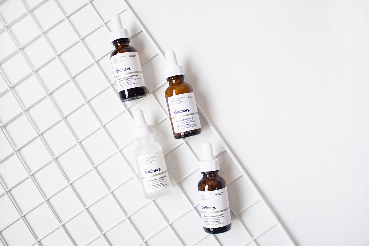 The Ordinary Skincare, Deciem, Niacinamide 10% + Zinc 1%, Caffeine Solution 5% + EGCG, Advanced Retinoid 2%, 100% Organic Cold-Presed Moroccan Argan Oil