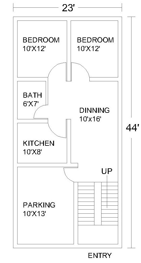 2 Bedroom House Plans #1