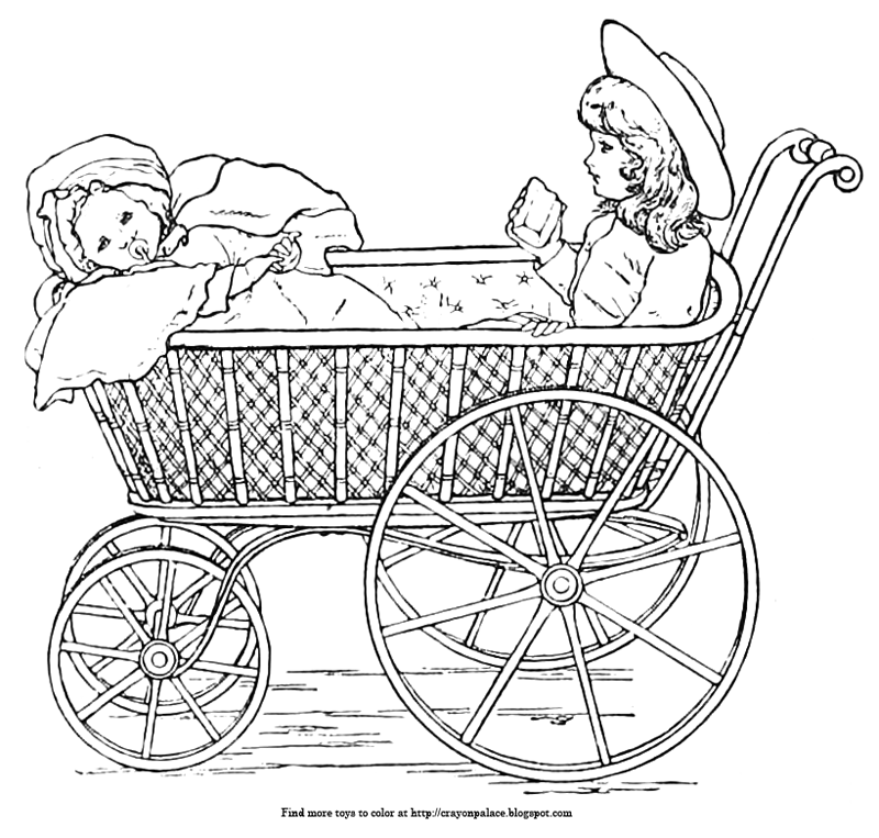 Baby Stroller Coloring Page - Ultra Coloring Pages | 763x800