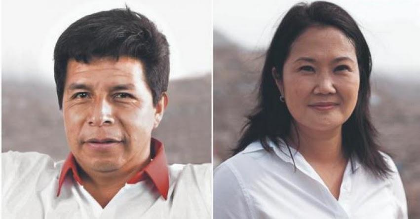 Resultados Oficiales de la ONPE al 96.424% amplía diferencia entre Pedro Castillo y Keiko Fujimori