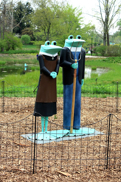 American Gothic Frogs at The Morton Arboretum