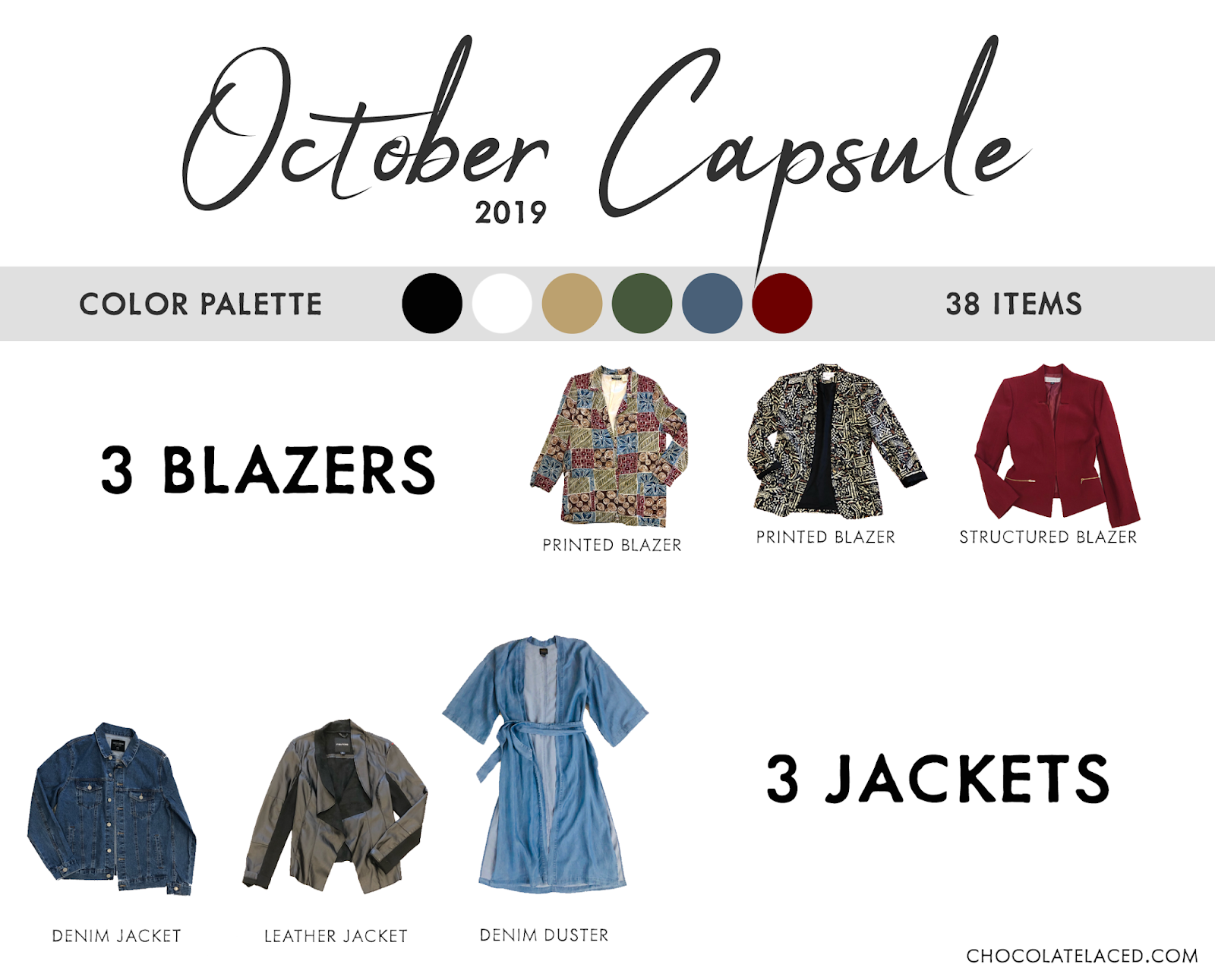 October capsule closet jackets and blazers