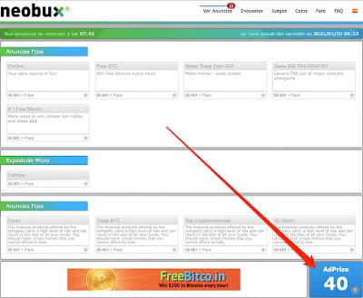 AdPrize en NeoBux