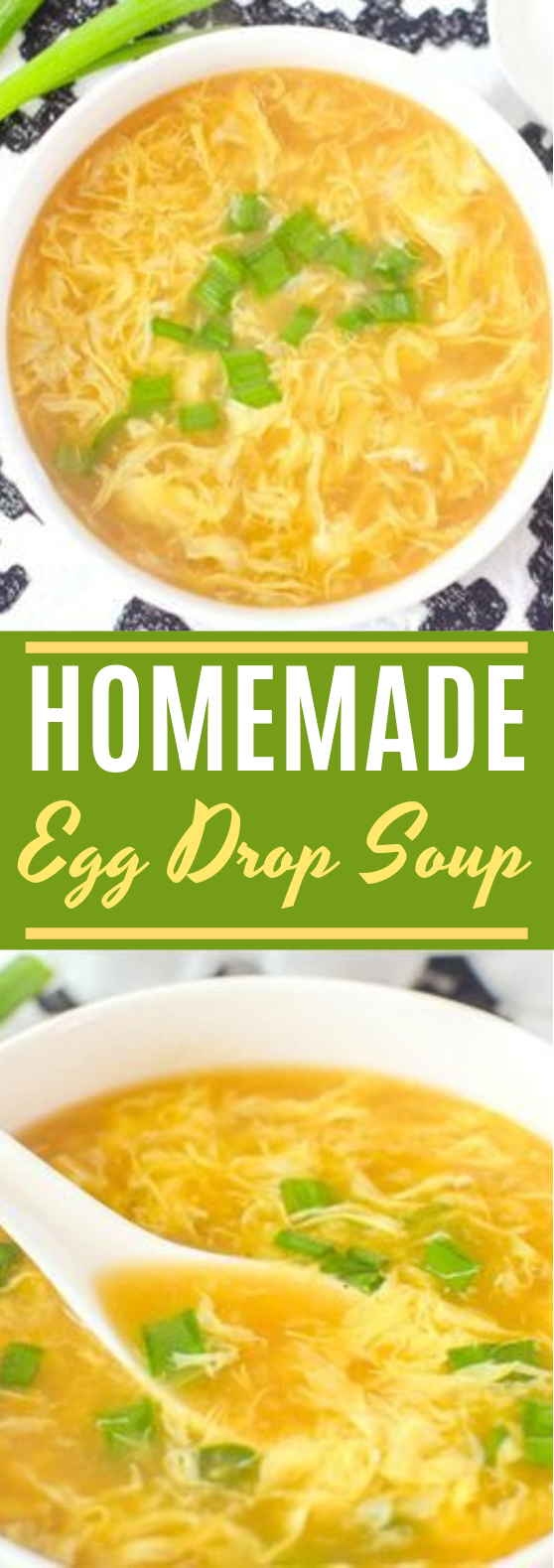 Homemade Egg Drop Soup #dinner #soup