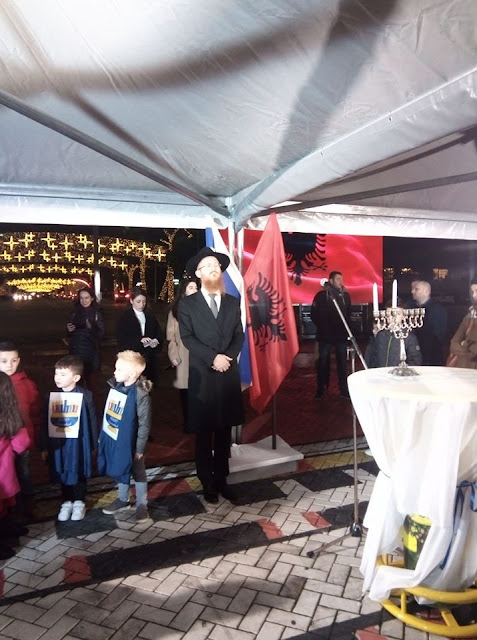 The Jewish Hanukkah is widely celebrated in Tirana and Pristina